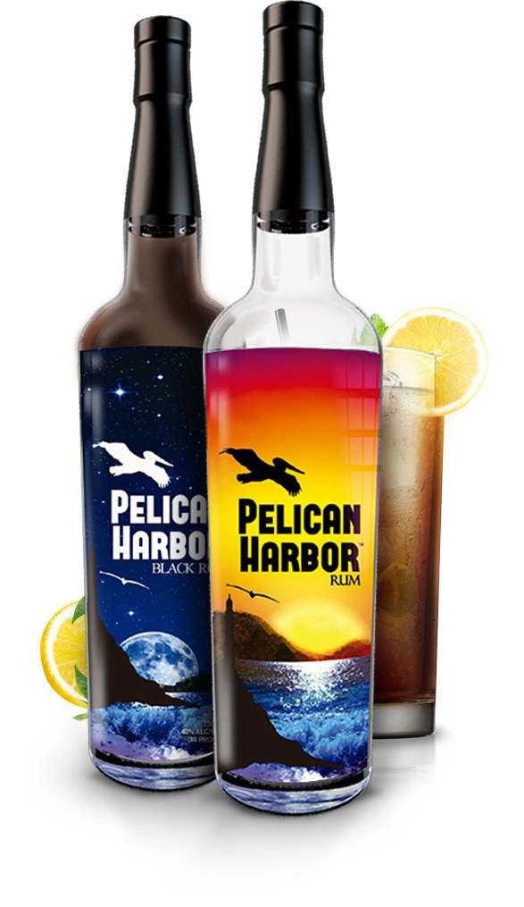 Pelican Harbor Rum Bottle